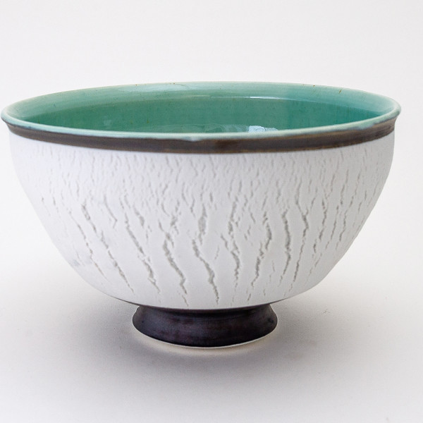Hugh West, White Crackled Bowl