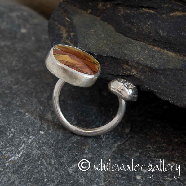 Marsha Drew, Pebble Ring with Red Creek Jasper