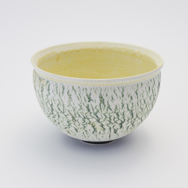 Hugh West - Green Crackled Buttermilk Bowl