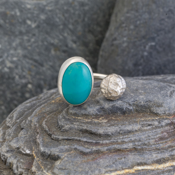 Marsha Drew, Pebble Ring with Turquoise