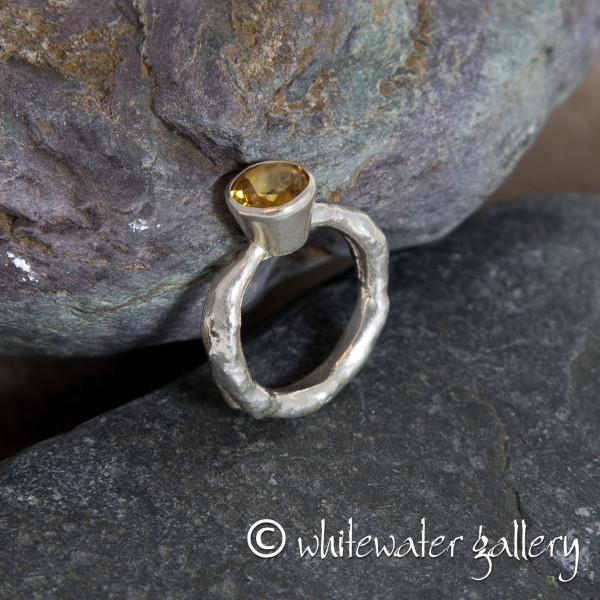 Marsha Drew, Rockpool Rustic Ring with large Citrine