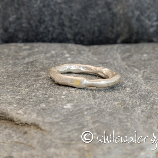 Marsha Drew, Rockpool Ring with 18ct Gold Compass Points