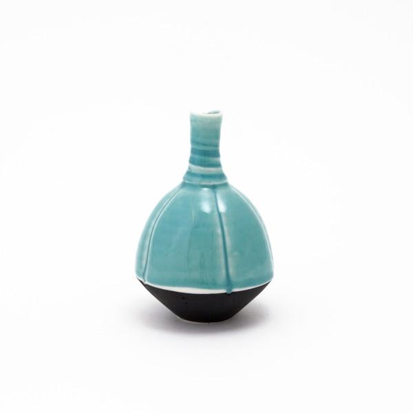 Hugh West, Round Bottle, Turquoise Glaze