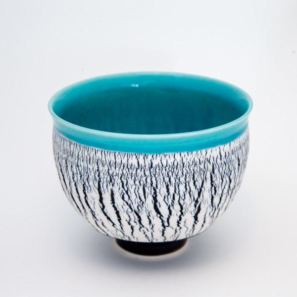 Hugh West, Large crackled bowl