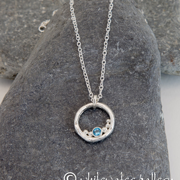 Marsha Drew, Rockpool Bubble Pendant with Swiss Blue Topaz
