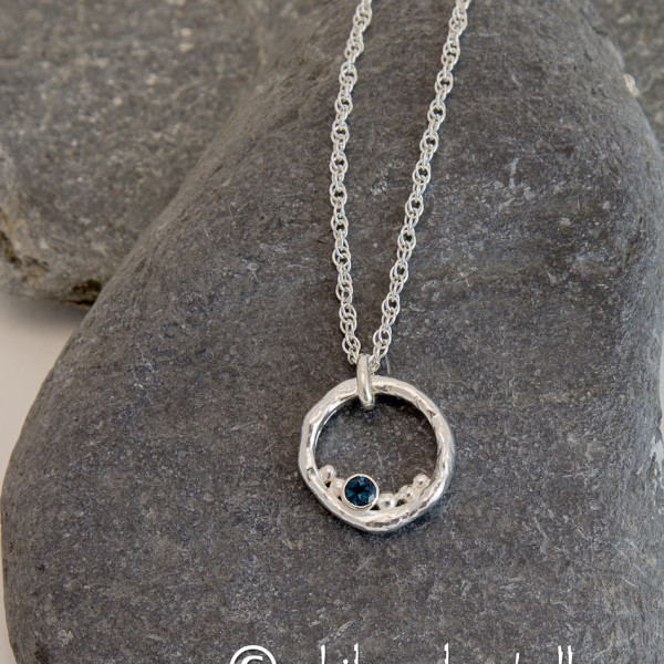 Marsha Drew, Rockpool Bubble Pendant with London Blue Topaz