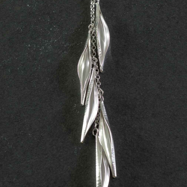 Marsha Drew, Pod Cascade Necklace in Siver