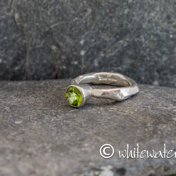 Marsha Drew, Rockpool Rustic Ring with large Peridot
