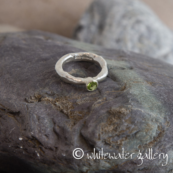 Marsha Drew, Rockpool Rustic Ring with Small Peridot