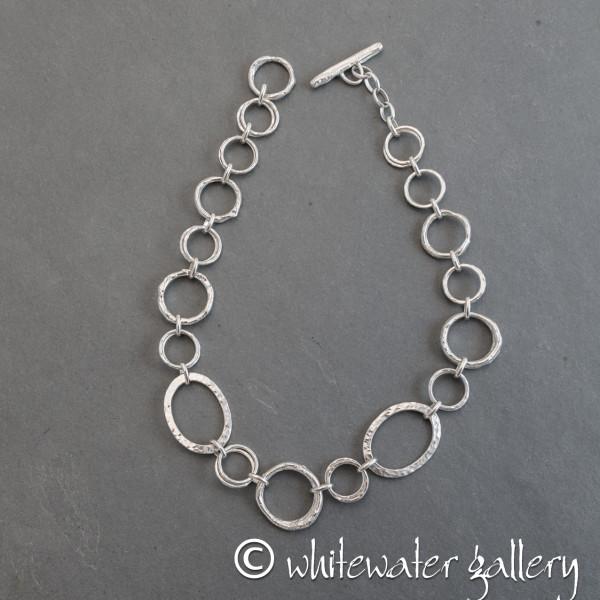 Marsha Drew, Chunky Rockpool Silver Necklace