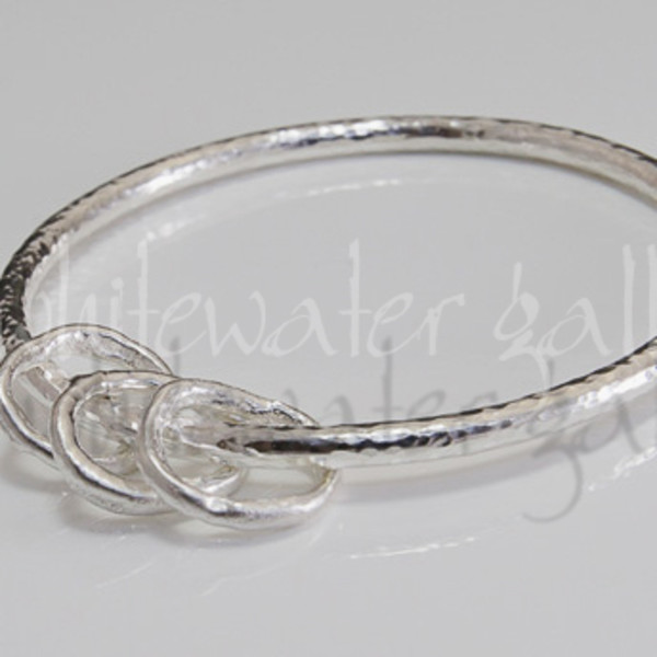 Marsha Drew, Rockpool Hammered Bangle with Halo Charms