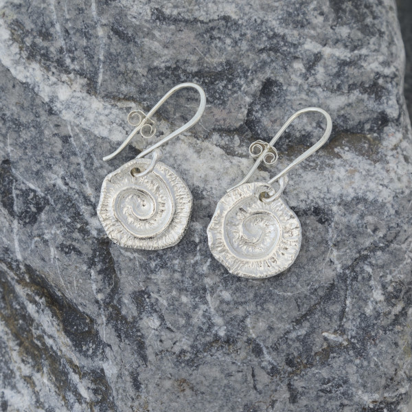 Marsha Drew, Swirly Drop Earrings