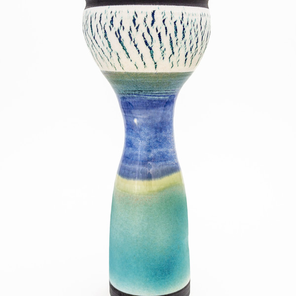 Hugh West, Tall Crackled Vase