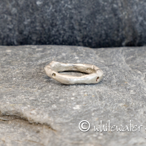 Marsha Drew, Rockpool Ring with Oxidised Dot Compass Points