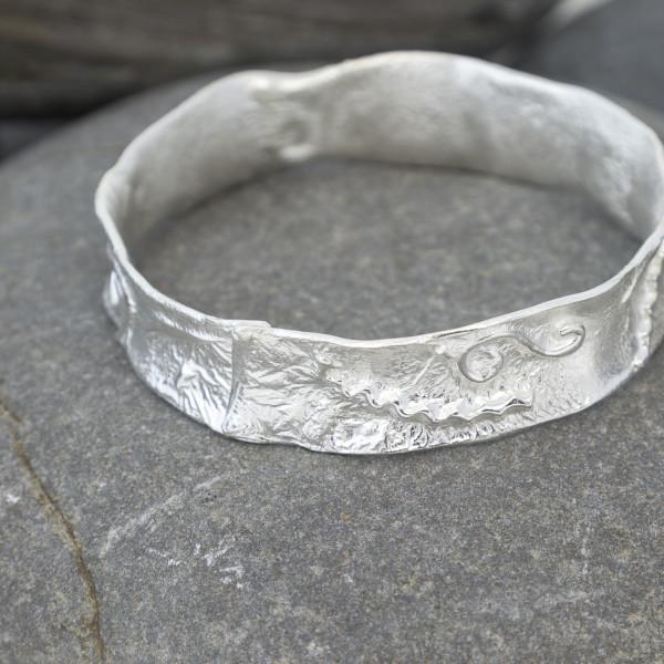 Marsha Drew, Textured Silver Bangle