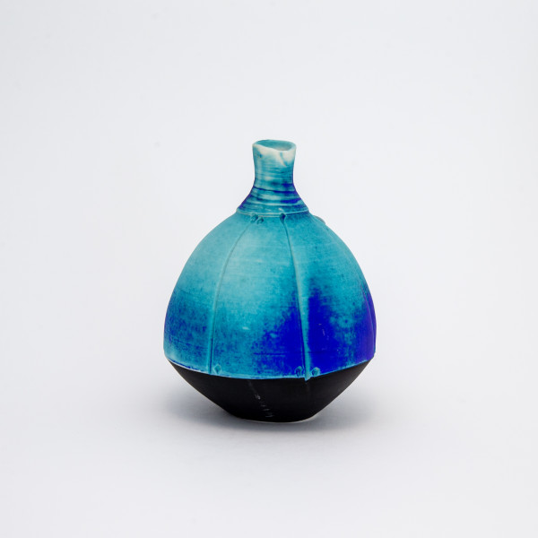 Hugh West, Round Bottle, Turquoise Matt Glaze