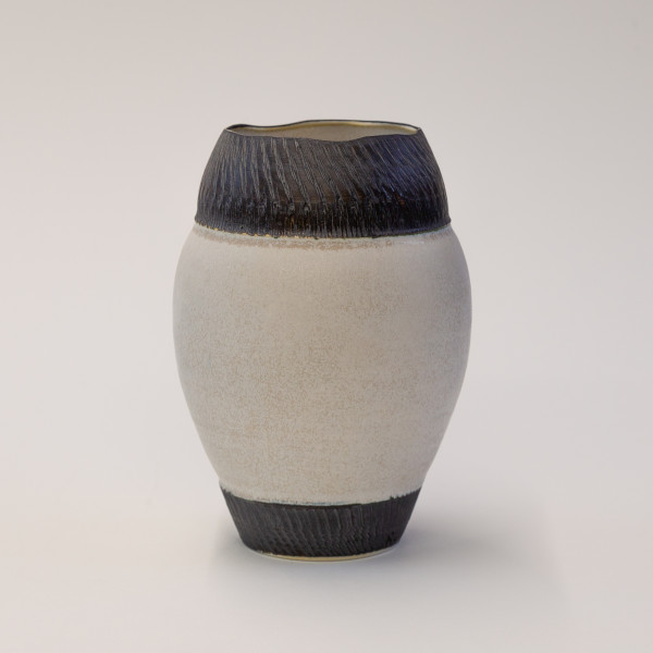 Hugh West, Vase with Large Chattered Rim & Chattered Base