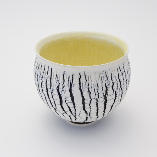 Hugh West, Black and White Buttermilk Bowl, 2018