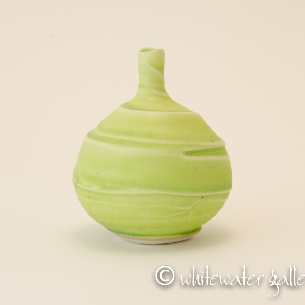 Hugh West, Small Textured Bottle Vase Green