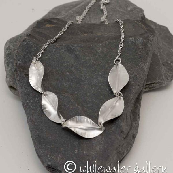 Marsha Drew, Riptide Five Leaf Necklace 16inch