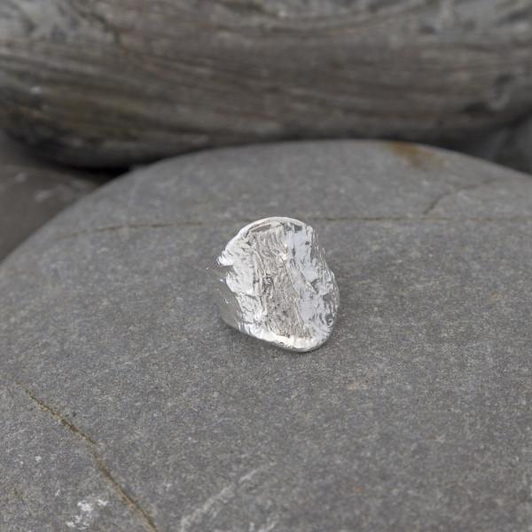 Marsha Drew, Textured Shield Ring