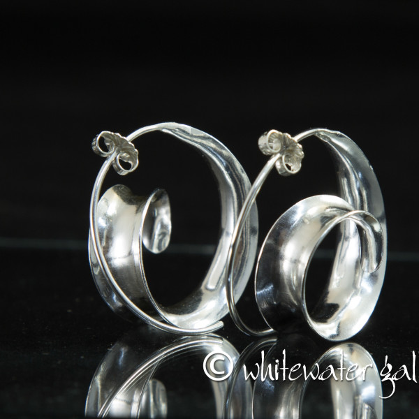 Marsha Drew, Spiral Wave Earrings
