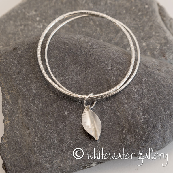 Marsha Drew, Riptide Double Bangle with Leaf Charm