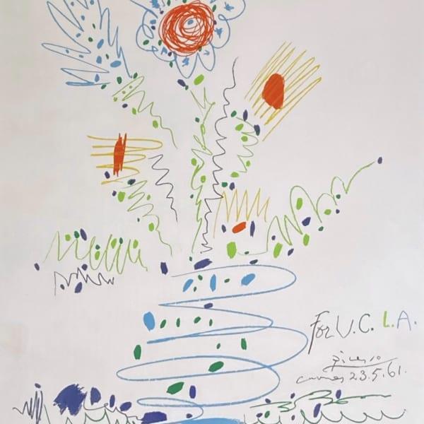 Pablo Picasso - Fleurs pour U.C.L.A.
