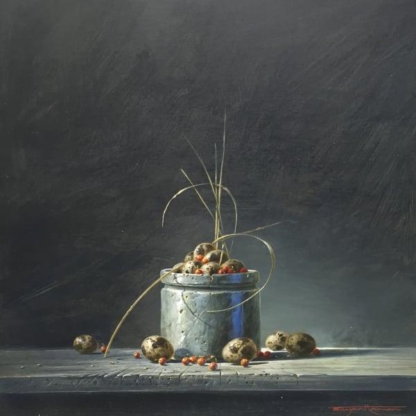 Bryan Hanlon - Redcurrants and Song Thrush Egg