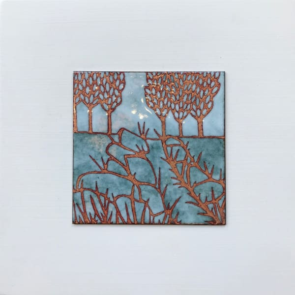Janine Partington - Field with Trees, Small panel, 2019