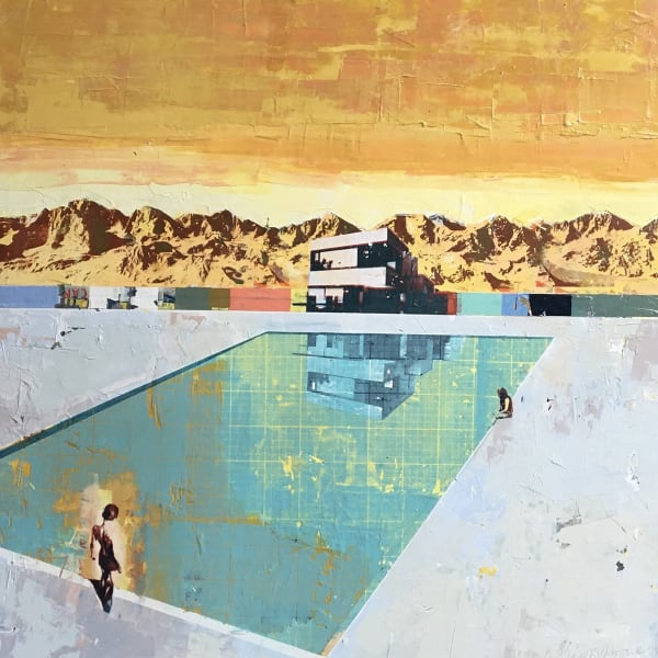 Dan Parry-Jones - Lido With Mountain , 2020