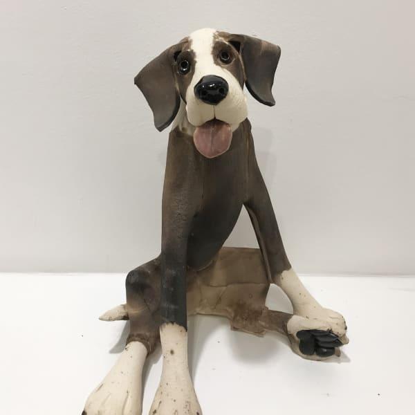 Virginia Dowe Edwards - Large Patchy Dog, Seated, 2019