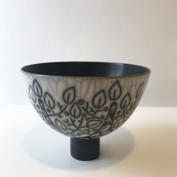 Debbie Barber - Branches, Medium Footed Bowl