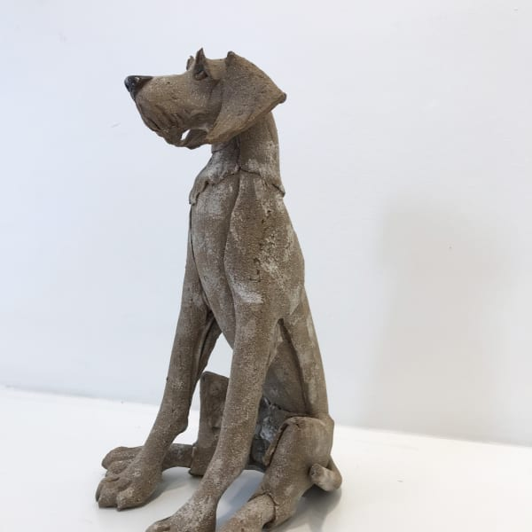 Virginia Dowe Edwards - Small Brown Dog, Seated, 2018