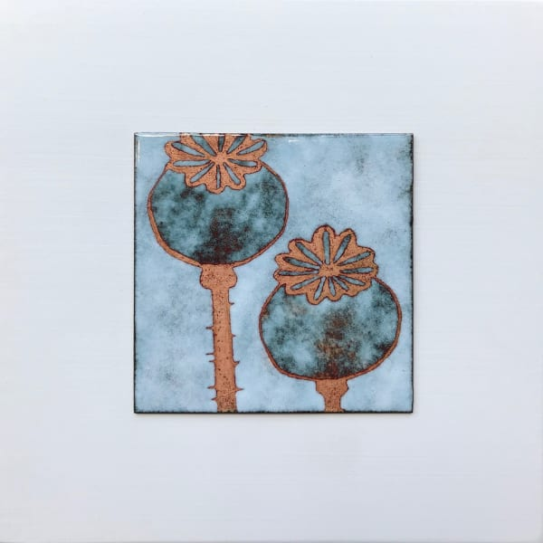 Janine Partington - Poppy Seedheads, Small panel