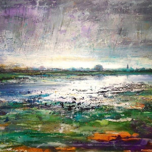 Peter Kettle, 'Port Meadow', mixed media on canvas, H 60 cm x 80 cm