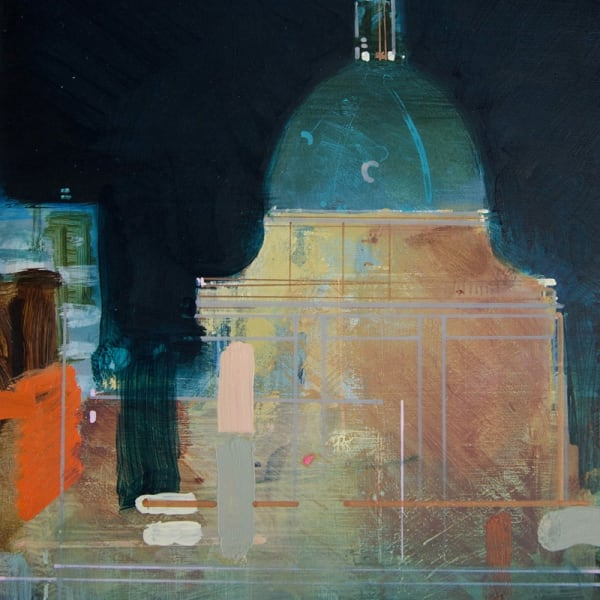 Christopher Farrell, 'Radcliffe Camera', acrylic on copper, H 25 x 18 cm