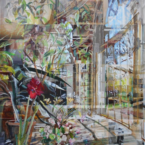 Alison Pullen, mixed media, Osterley Park House Garden Room, H 114 x 97 cm framed