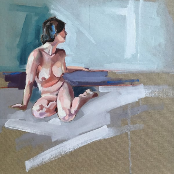 Clare Bonnet, 'Study For Hannah', oil on linen, 40 x 40 cm, £675