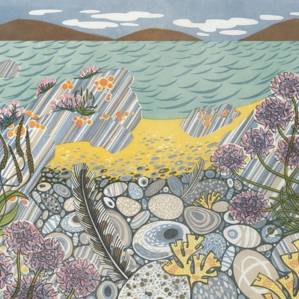 Angie Lewin, 'Pebble Shore'