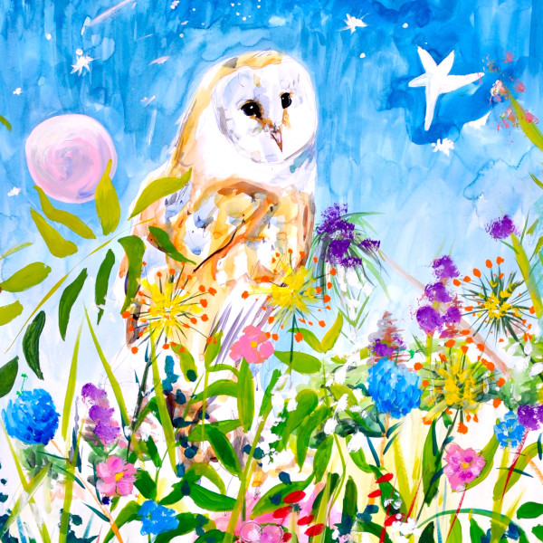 Millie McCallum - Owl in Night Sky