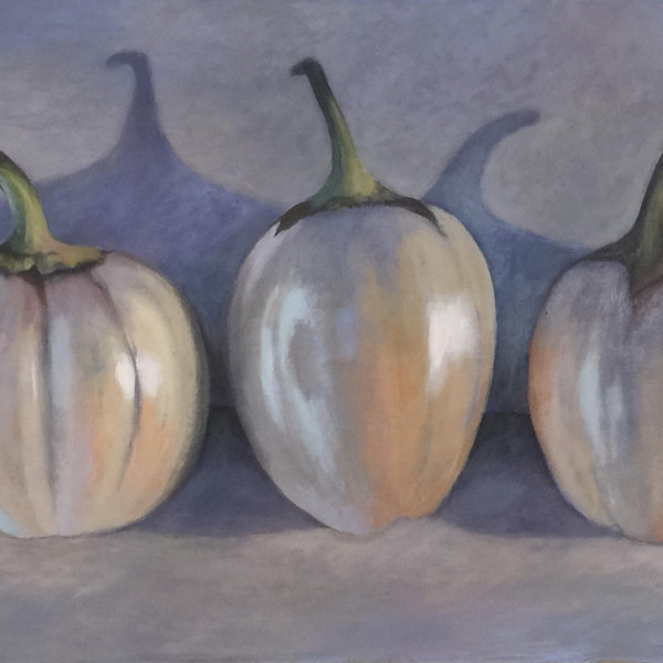 Joyce Pinch - Three White Aubergines