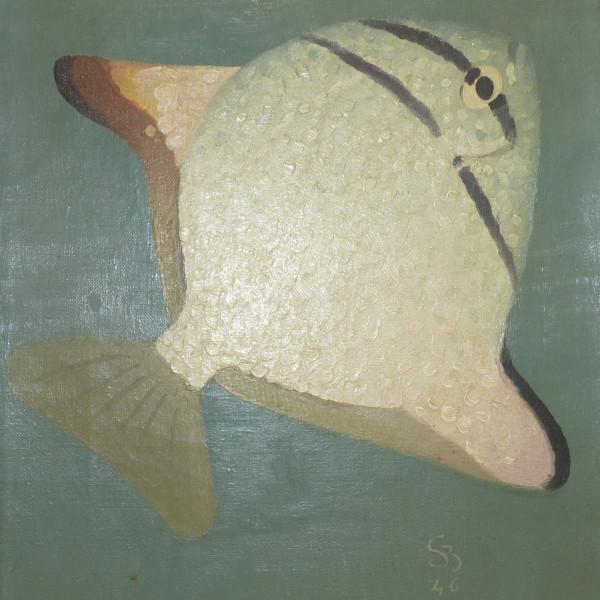 Simon-Albert Bussy - Poisson Argent, 1946
