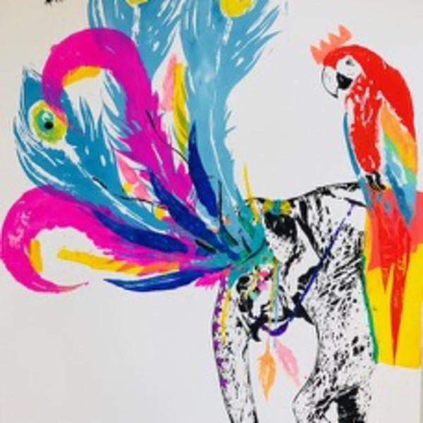 Millie McCallum - Elephant and Parrot