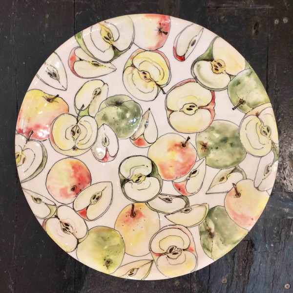 Kerry Edwards - Apples Round Platter