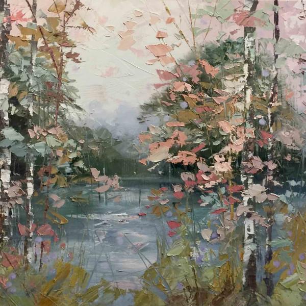 Paul Treasure - Sage Green and Silver Birch