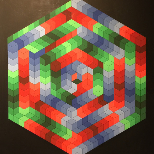 Victor Vasarely - Hexagon