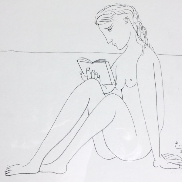 John Myatt - Reading Nude - Original
