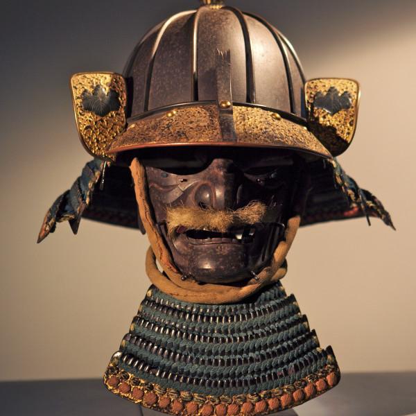 Samurai Arts - Heavy 8 plate samurai helmet and mask, c.1600