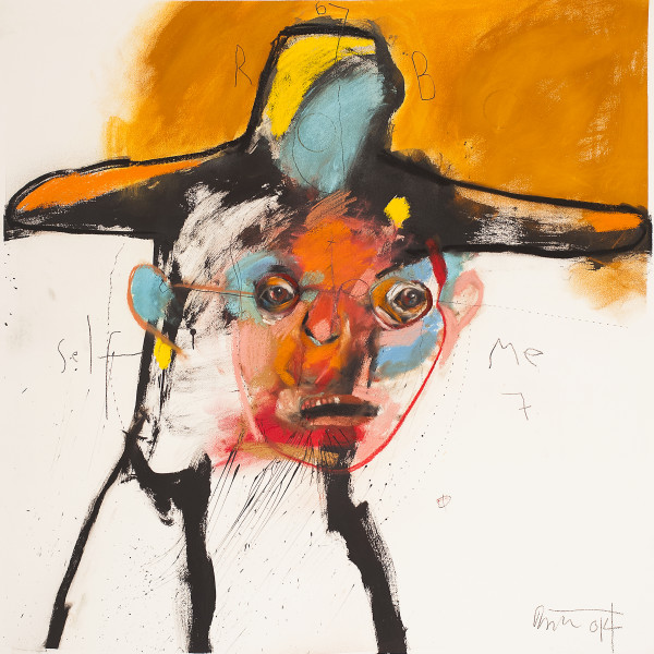 Rick Bartow - Self in Monet's Hat, 2014